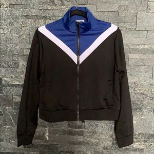 Forever 21 colour block zip up athletic sweater